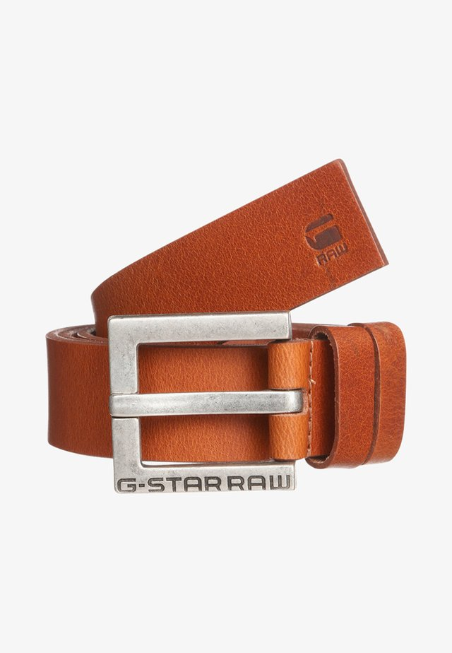 DUKO BELT - Pásek - dark cognac/antic silver