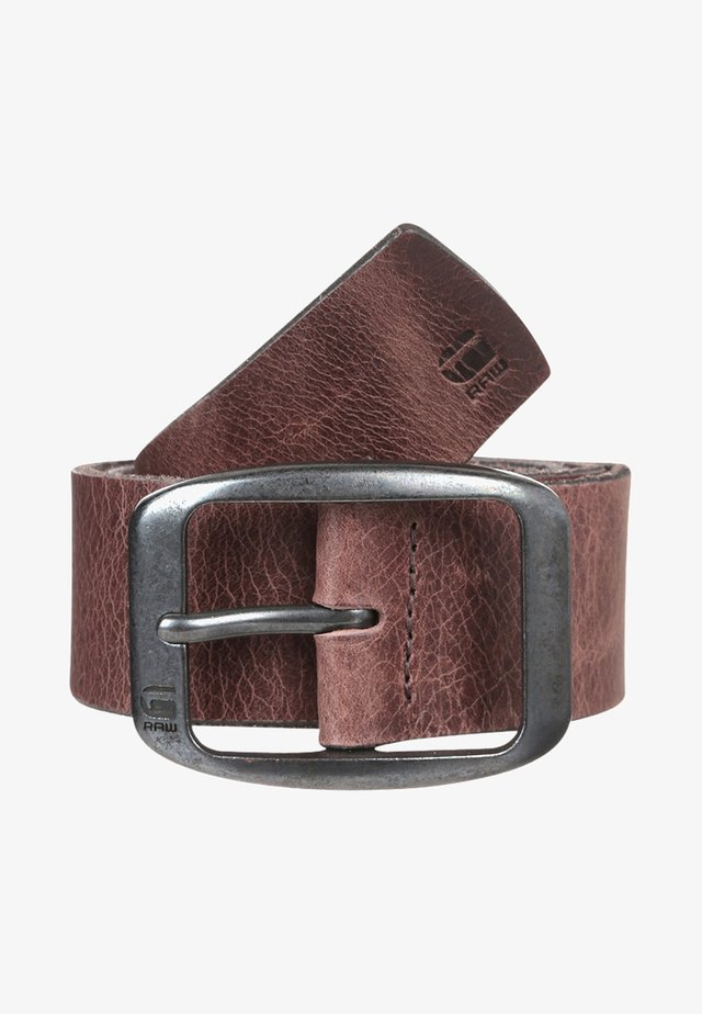 LADD BELT - Pásek - dark brown/black metal