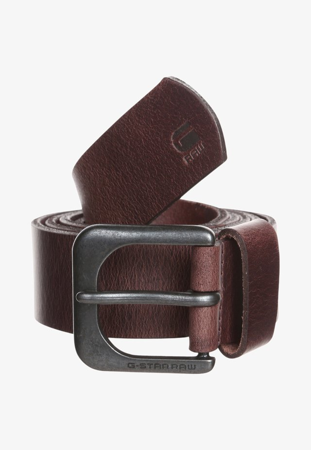 ZED BELT - Pásek - dark brown/black