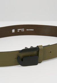 G-Star - RIKKU LOGO PIN BELT - Pásek - sage/matt black - 4