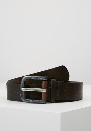 DEGRO BELT - Pásek - dark brown/black