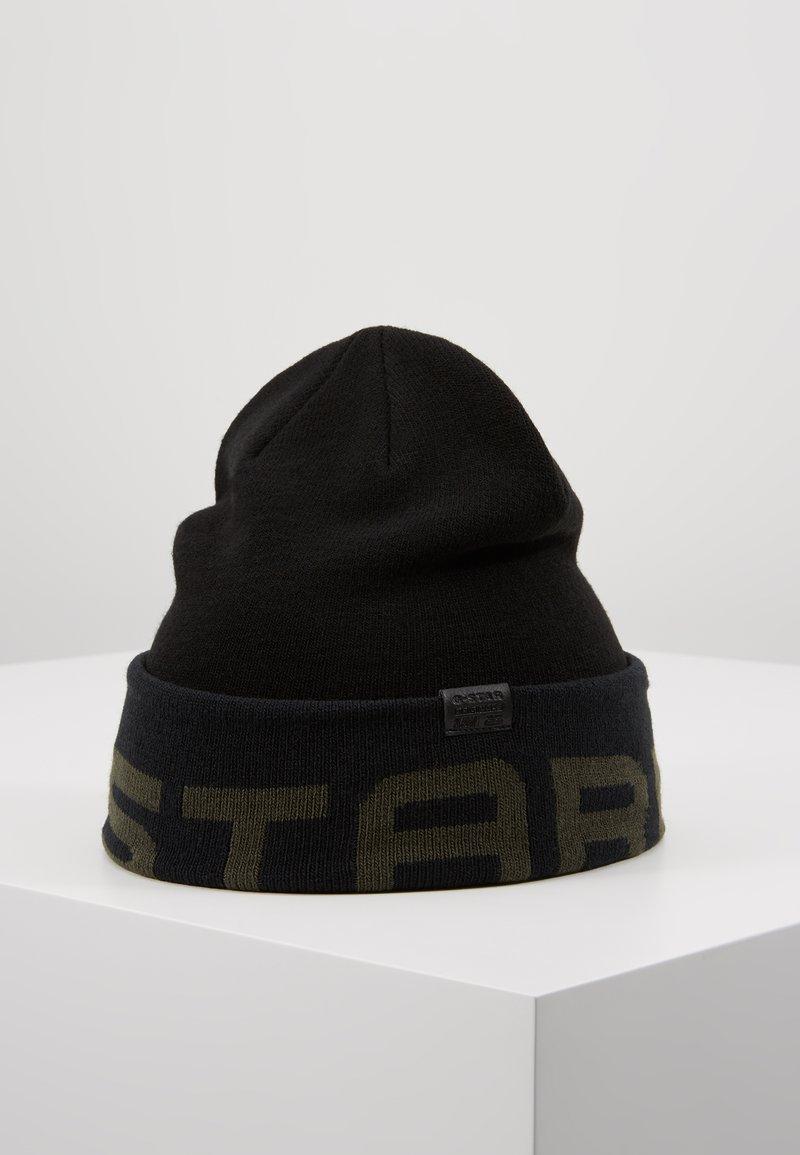 G-Star - EFFO VECTOR BEANIE - Muts - dark black