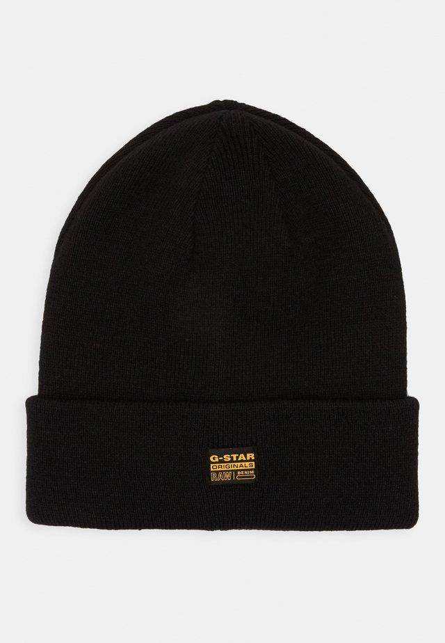 EFFO BEANIE LONG - Mütze - dark black