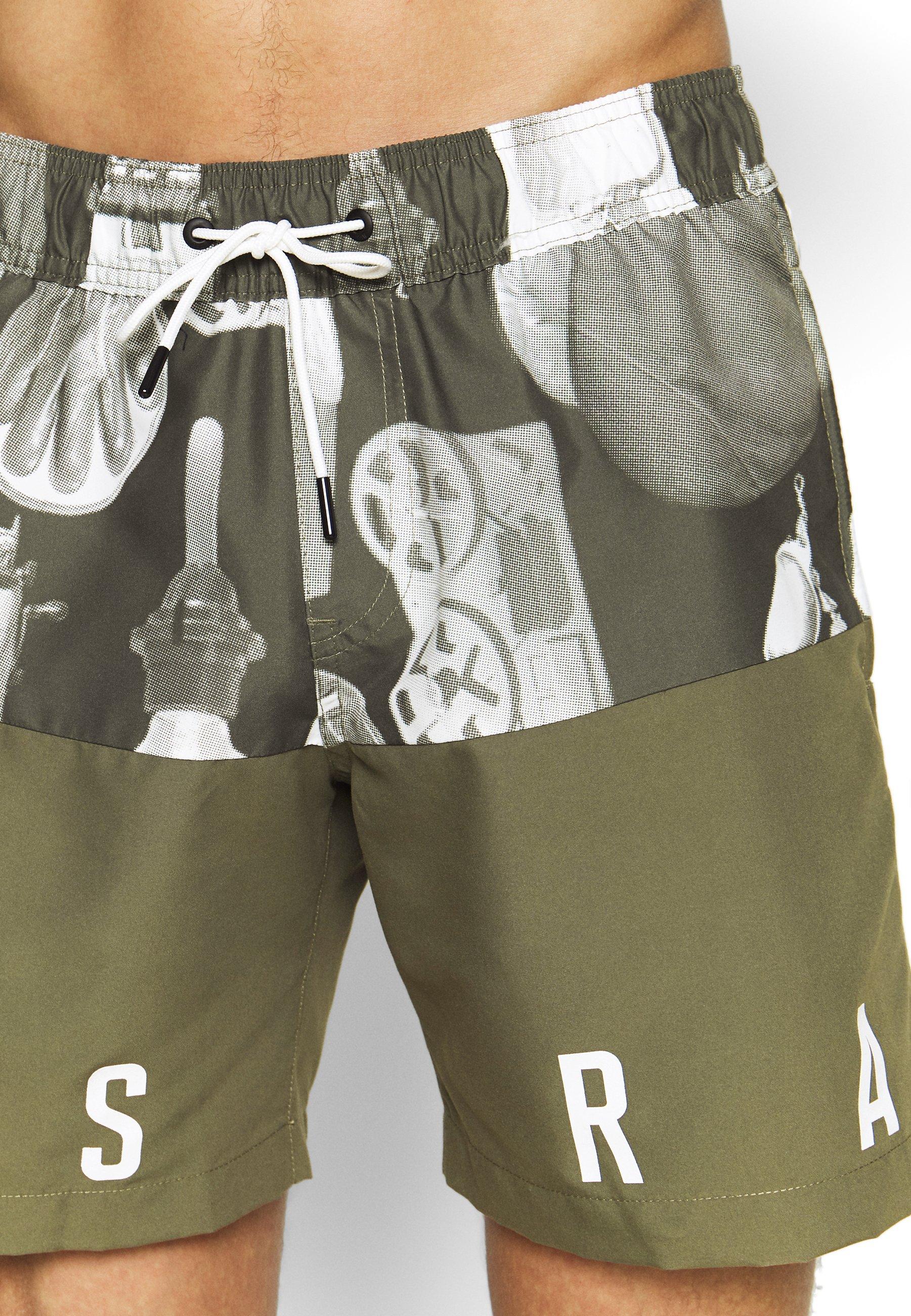 G-star Dirik Colour Block Ao - Shorts Da Mare Dark Shamrock Cdx3B