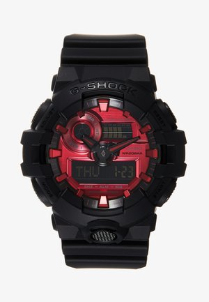 GA-700 METALLIC - Digitaal horloge - black/red
