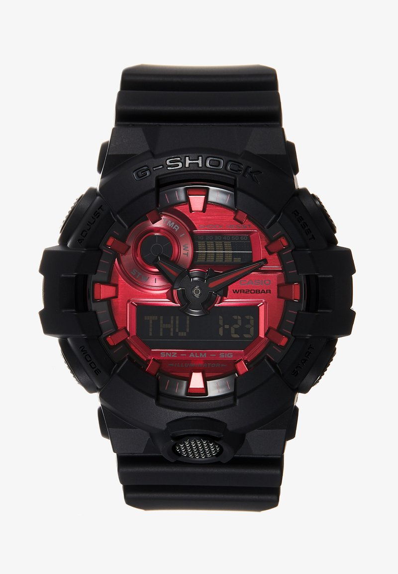 G-SHOCK - GA-700 METALLIC - Digital watch - black/red