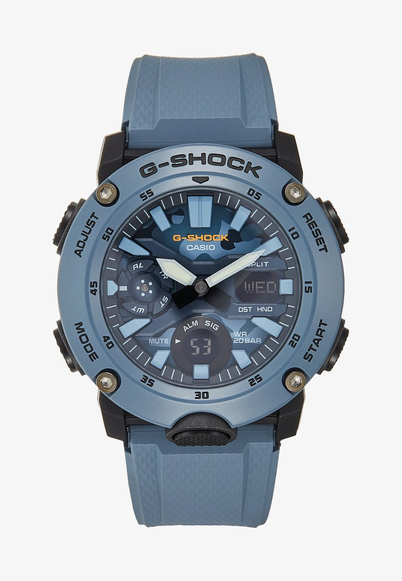 G-SHOCK - CAMOUFLAGE DIAL - Hodinky se stopkami - blue