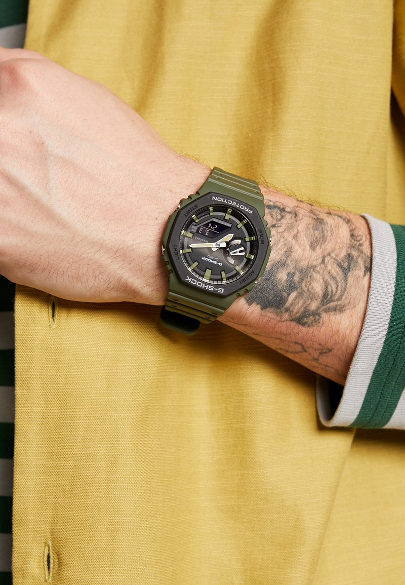 G-SHOCK - LAYERED BEZEL - Chronograph watch - green
