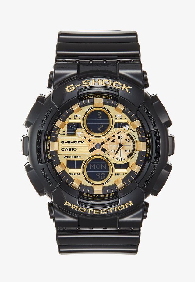 Chronograph watch - black/gold-coloured