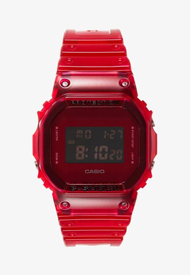 DW-5600 SKELETON - Digital watch - red