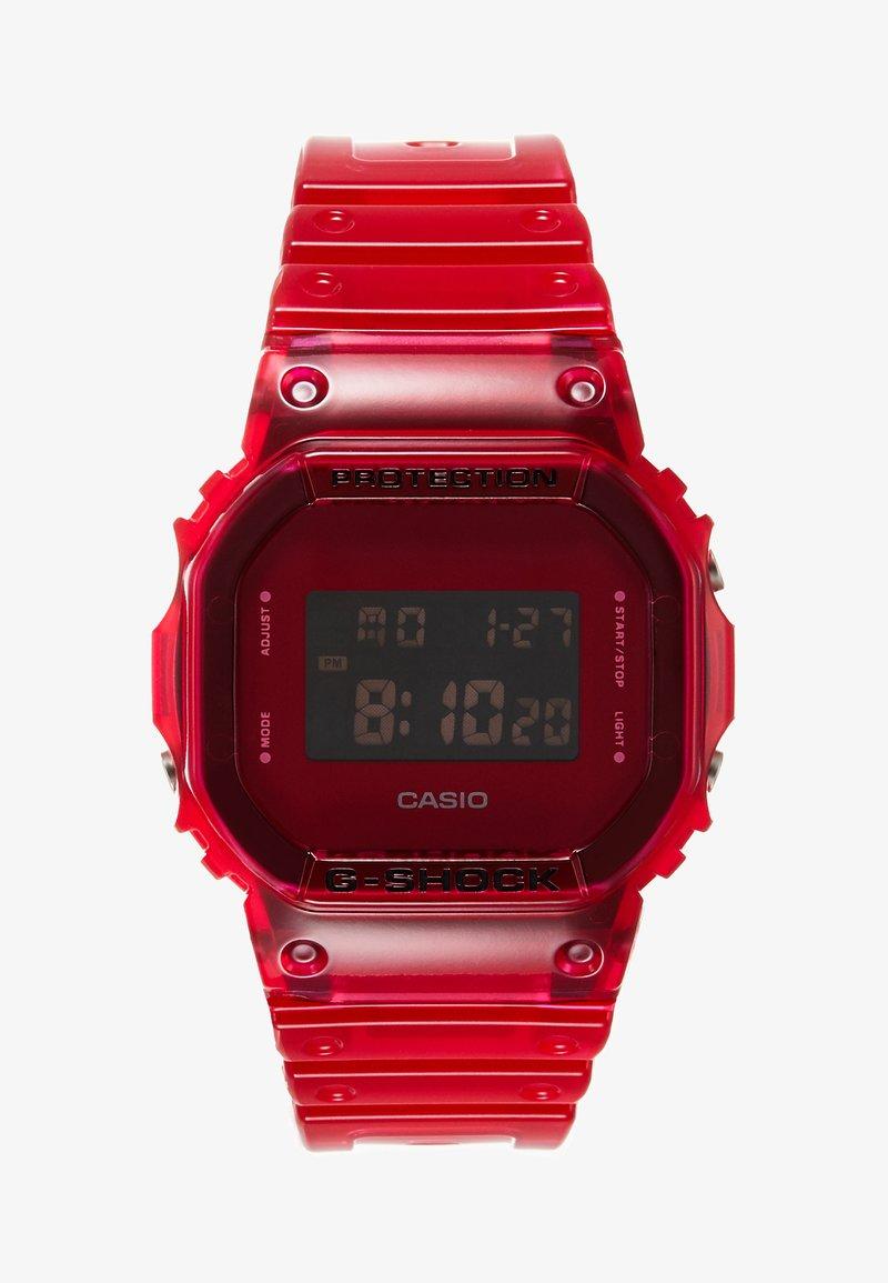 G-shock - DW-5600 SKELETON - Digitalklocka - red
