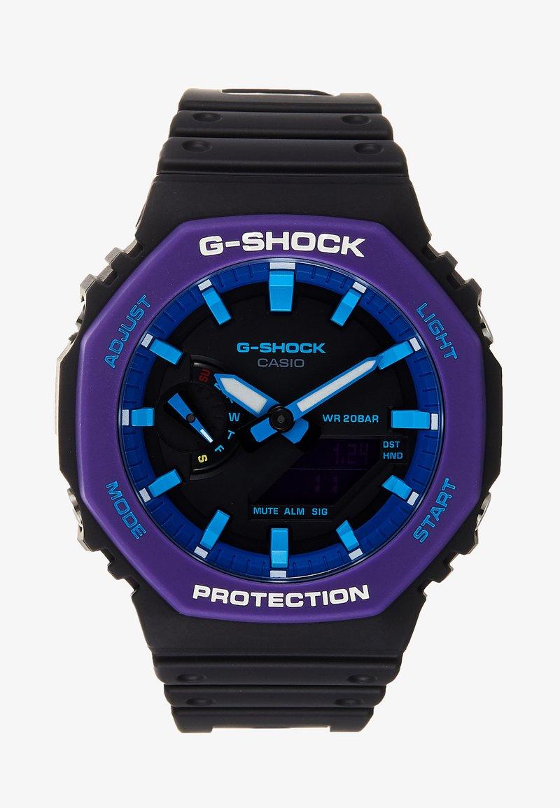 G-SHOCK - GA-2100 THROWBACK SET - Klokke - black /purple