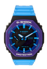 G-SHOCK - GA-2100 THROWBACK SET - Klokke - black /purple - 1