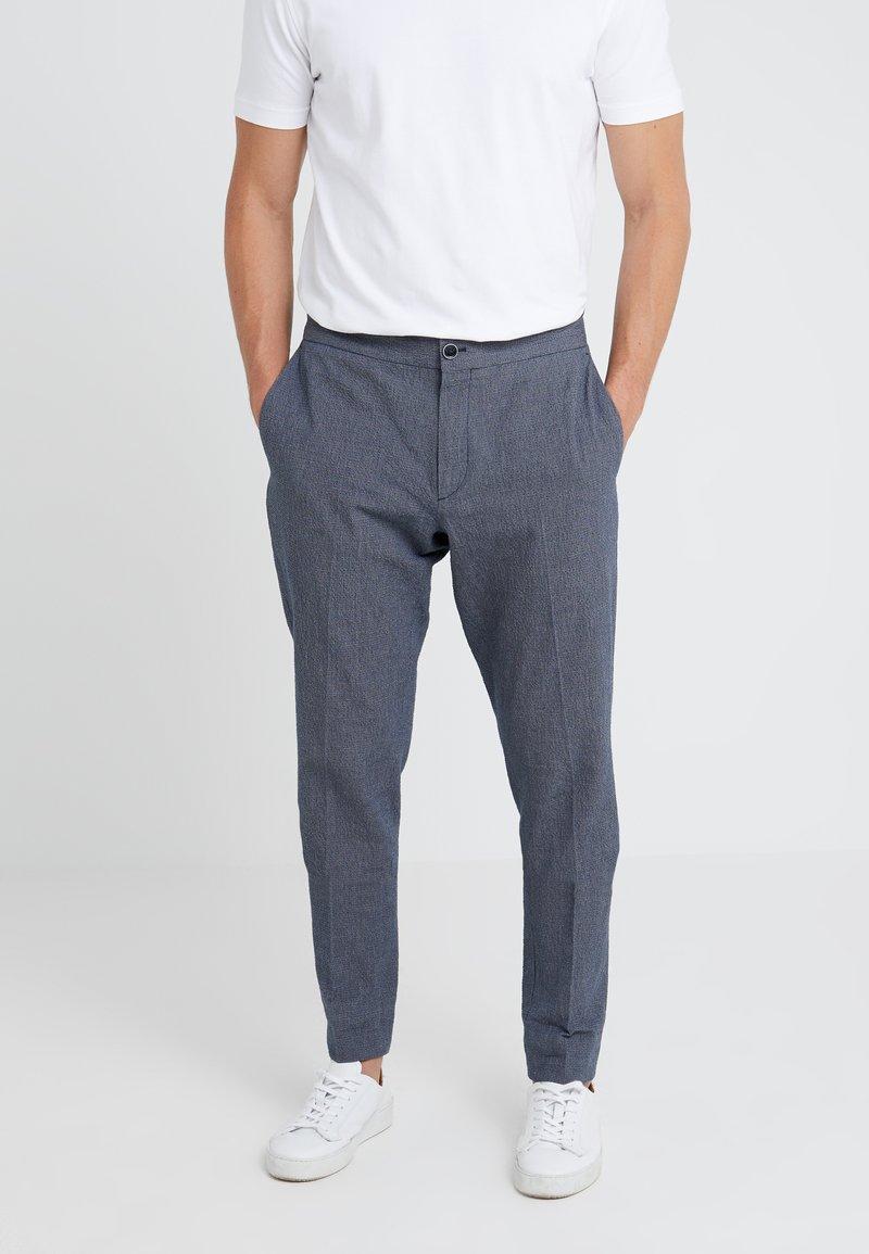GTA - DAVIDE SEERSUCKER  - Trousers - blue