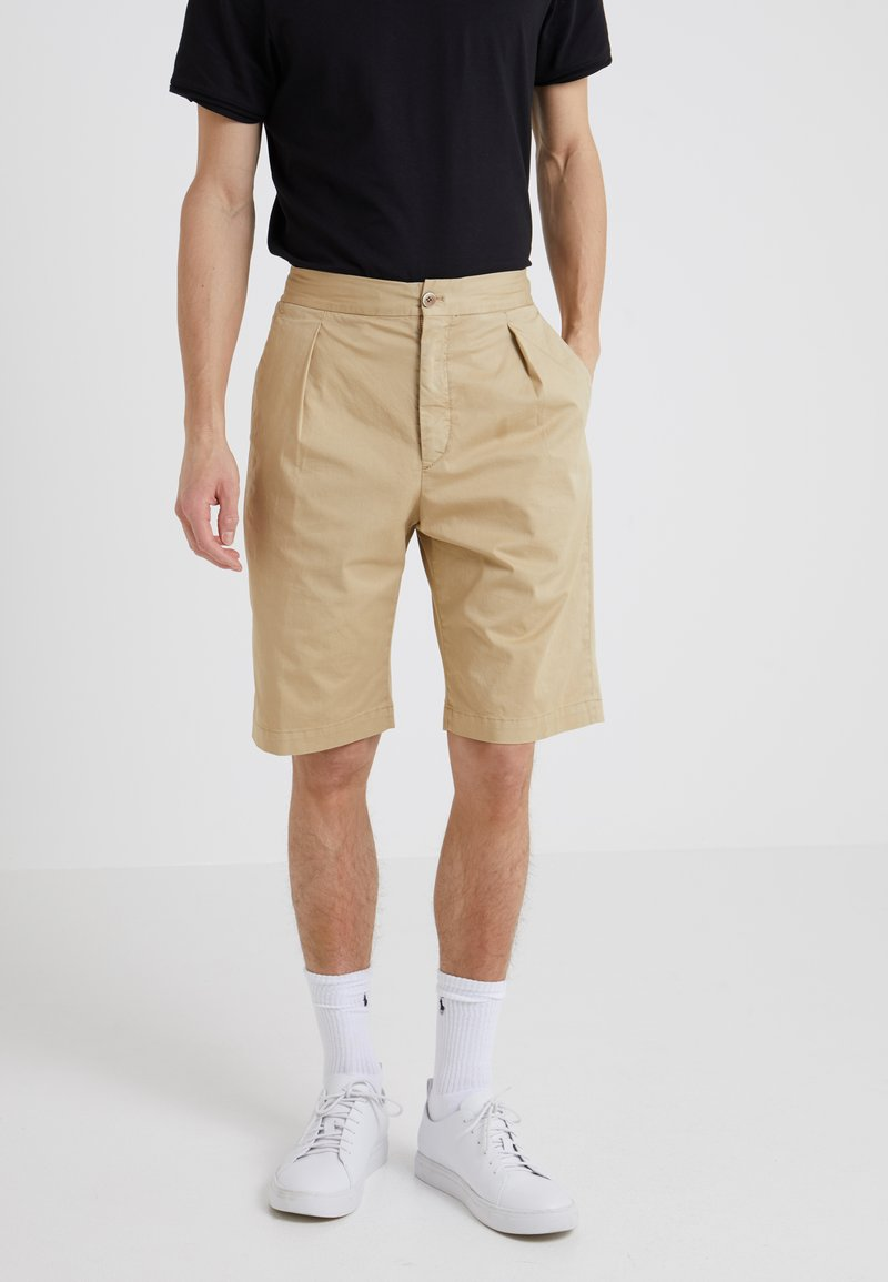 GTA - DAVIDE LIGHT GABARDINE STRETCH - Shorts - beige