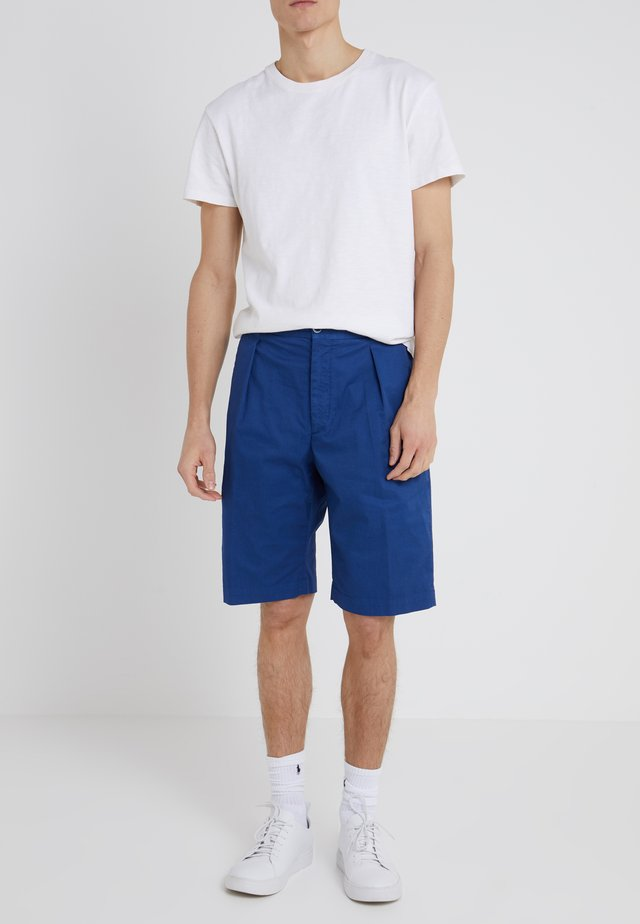 DAVIDE LIGHT GABARDINE STRETCH - Shorts - royal