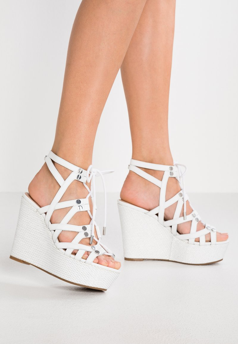 Guess - GRAY - High heeled sandals - white