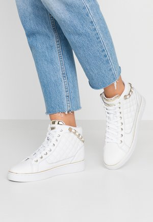 BRODEE - Baskets montantes - white/gold