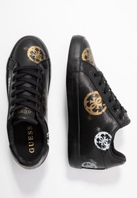 Guess - PAINTED - Sneakers laag - black - 3