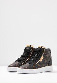 Guess - BRINA - Sneakers high - bronze/black - 4