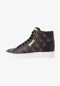 Guess - BRINA - Sneakers high - bronze/black - 1