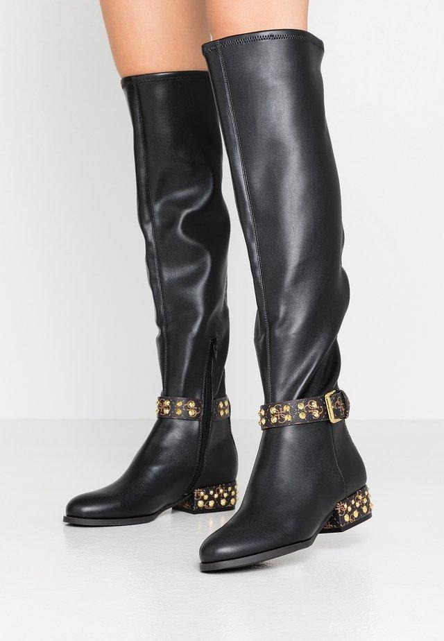 AGETHA - Overknee laarzen - black