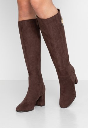 CAELA - Stivali alti - dark brown