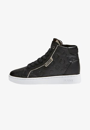 MONTANTE BRINA LOGO GAUFRE - Sneakers hoog - black