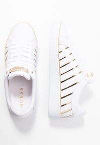 Guess - BOLIER - Sneakers laag - white/gold - 3