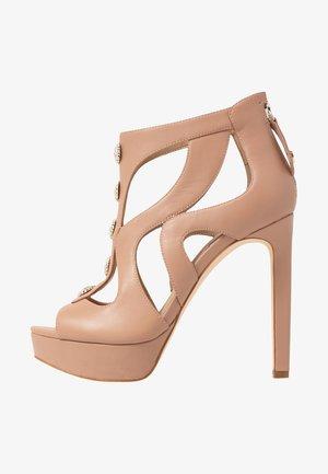 CABELLS - Kotníková obuv na vysokém podpatku - nude