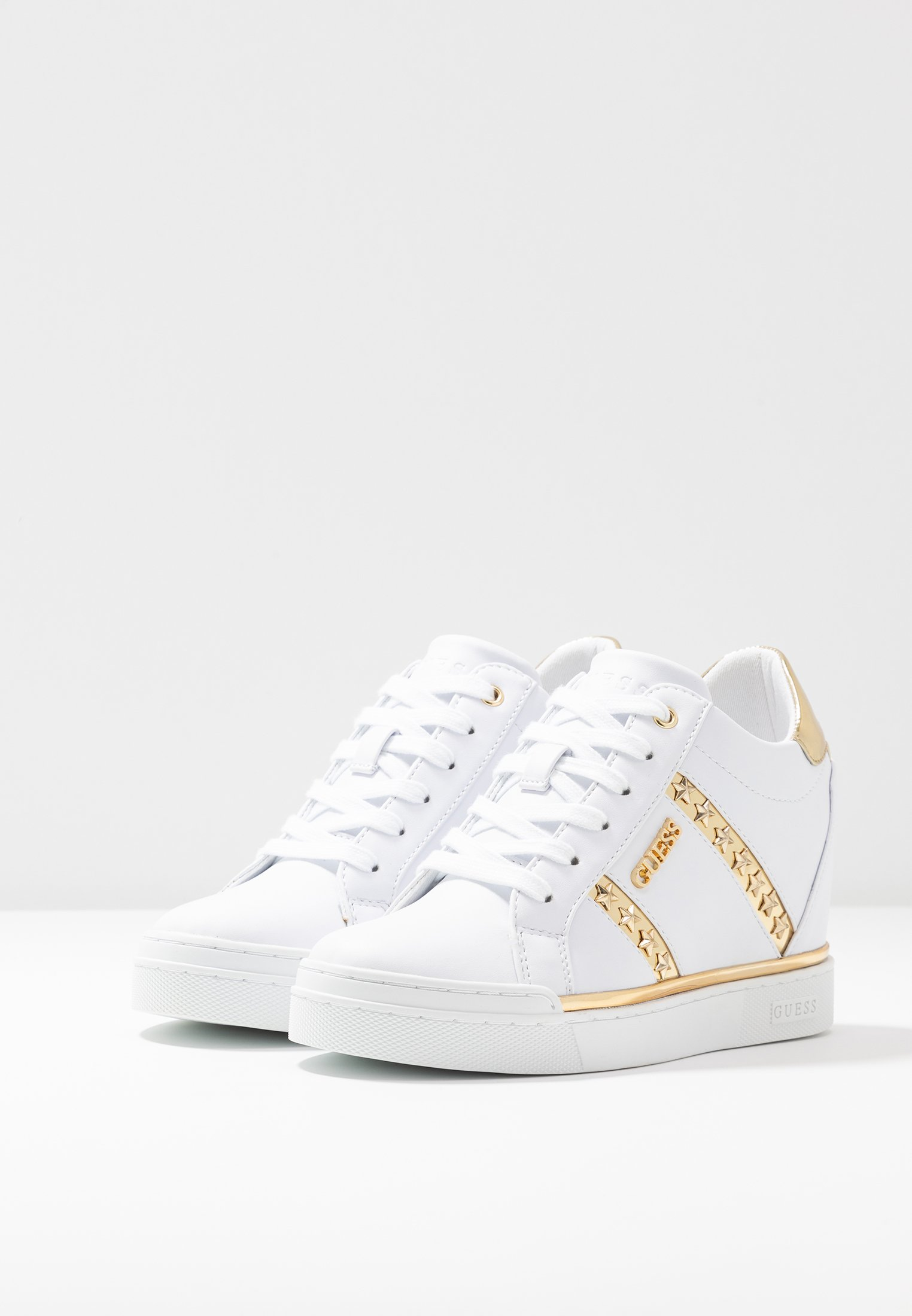 Guess FAYNE - Baskets basses - white/gold
