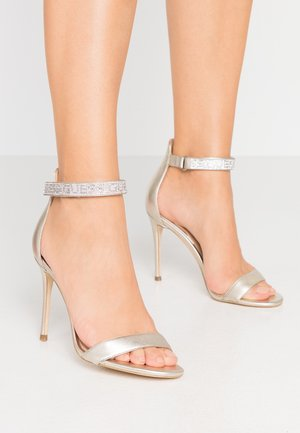 KAHLUN - High heeled sandals - plati