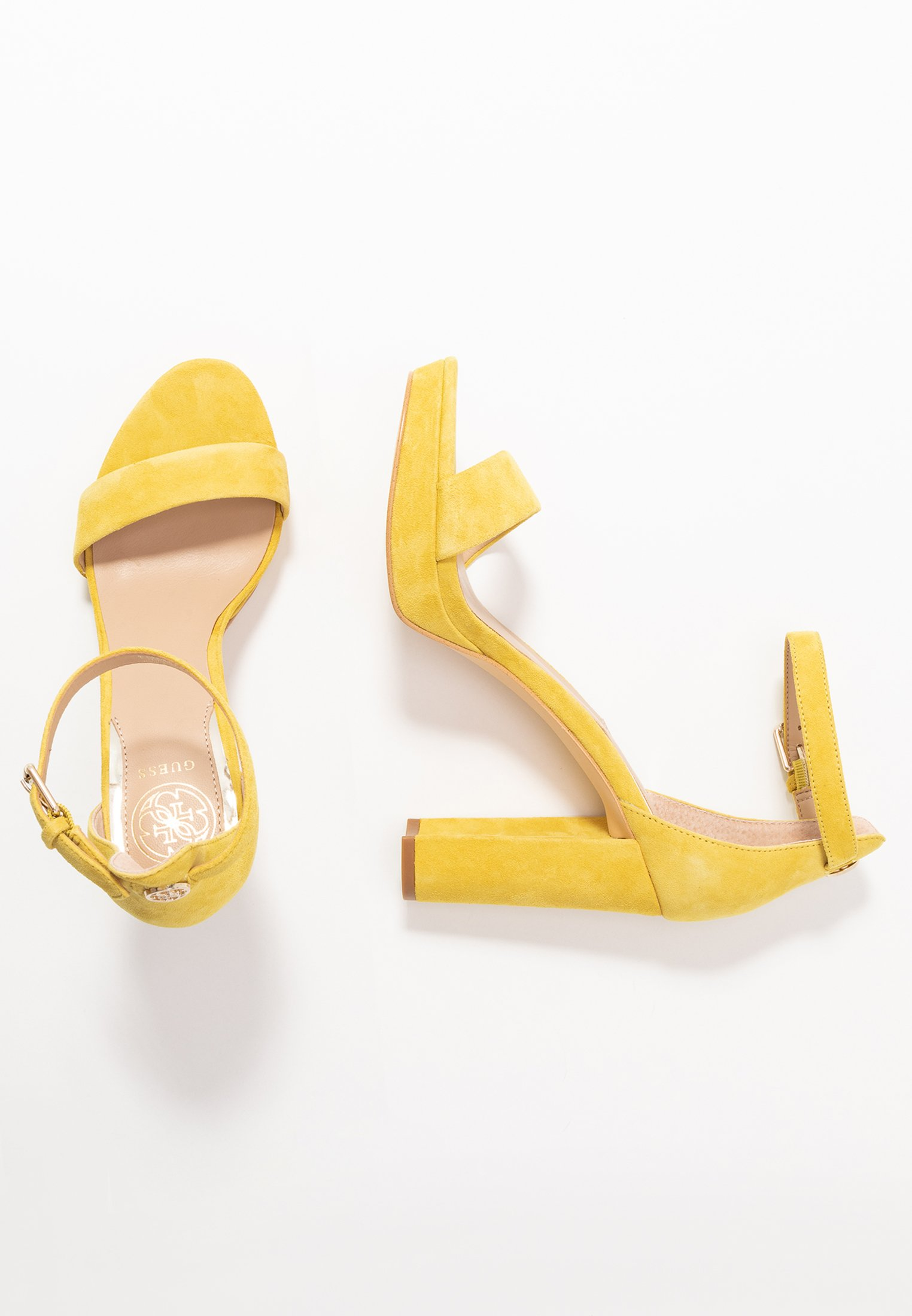 Guess OMERE - Sandały na obcasie - yellow