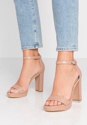 OMERE - High Heel Sandalette - nude