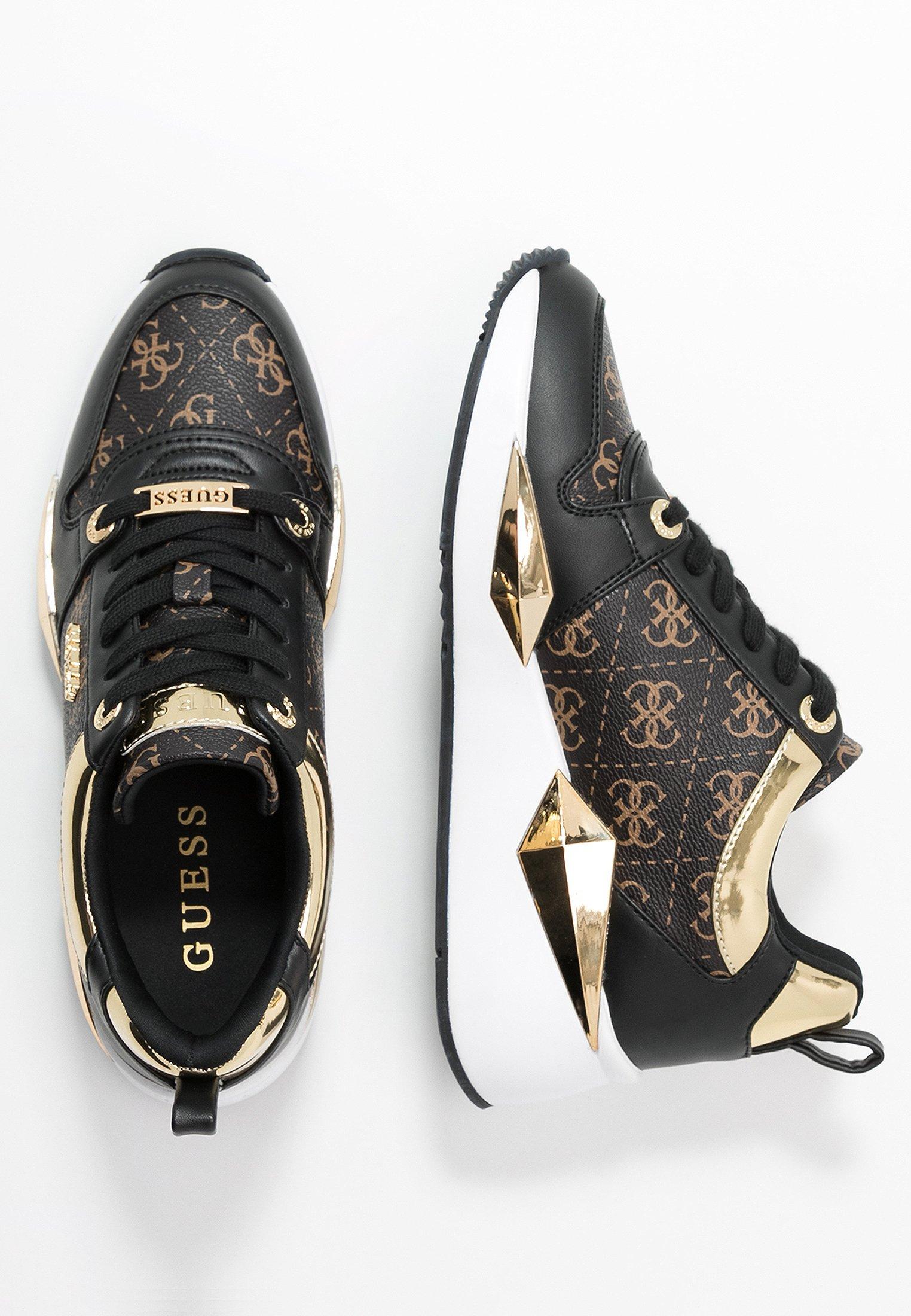 Guess TALLYN Sneakers laag brownblack Zalando.nl