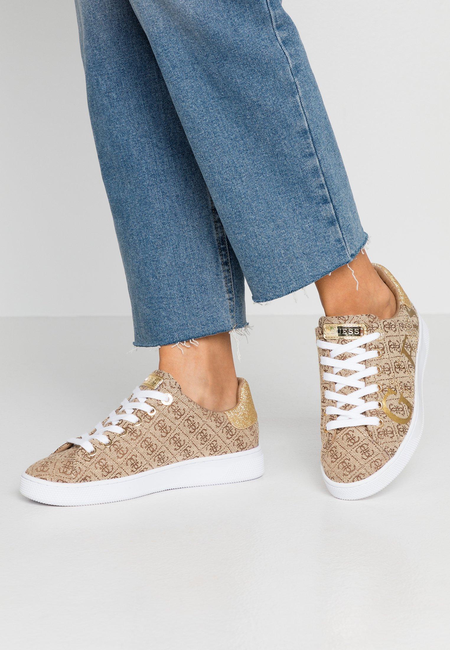 Guess RIDERR - Sneakersy niskie - beige/brown