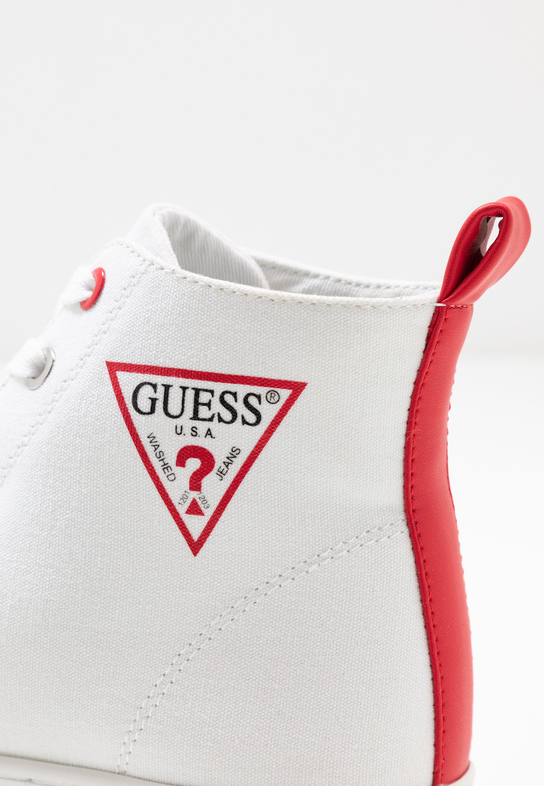 Guess BOKAN - Sneakersy wysokie - white
