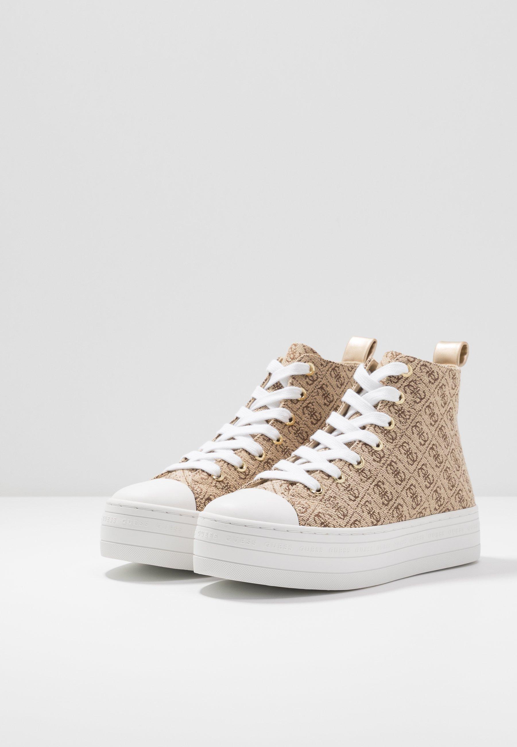 Guess BOKAN5 - Sneakersy wysokie - beige/light brown