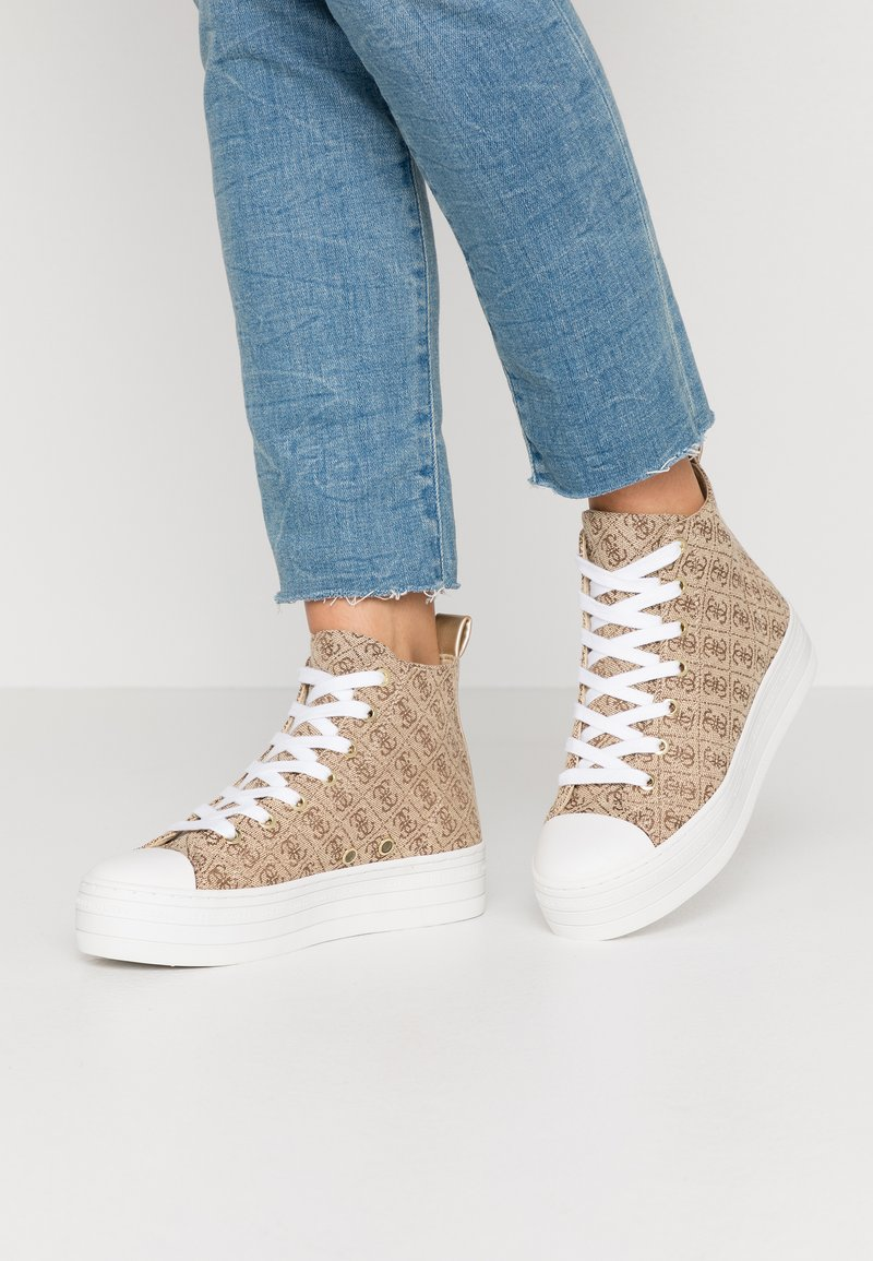 Guess - BOKAN5 - Baskets montantes - beige/light brown