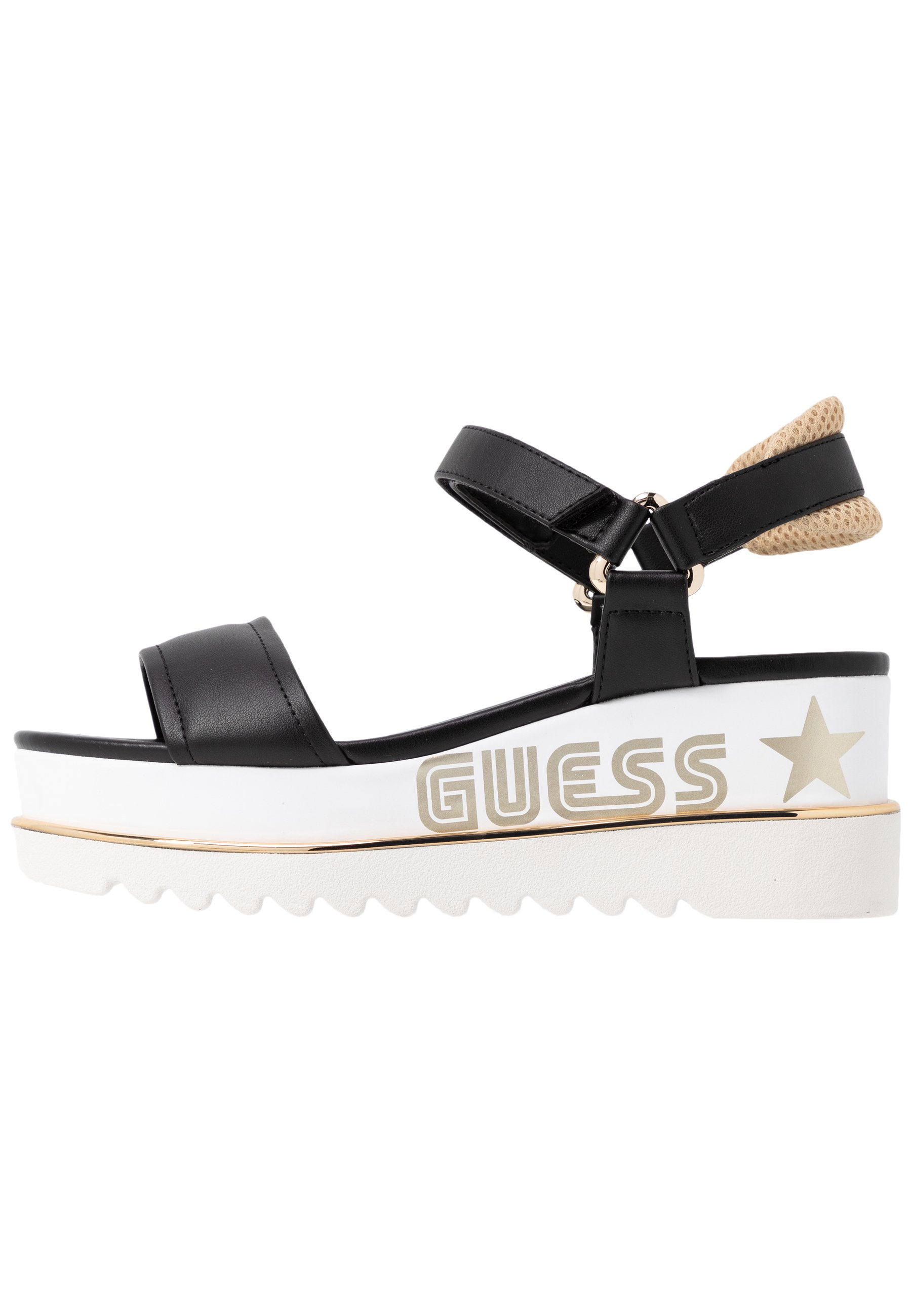 Guess LESSA - Sandały na platformie - black