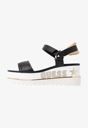 LESSA - Sandały na platformie - black