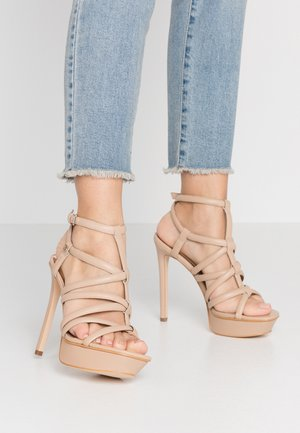 ELERI - Sandály na vysokém podpatku - beige neutro