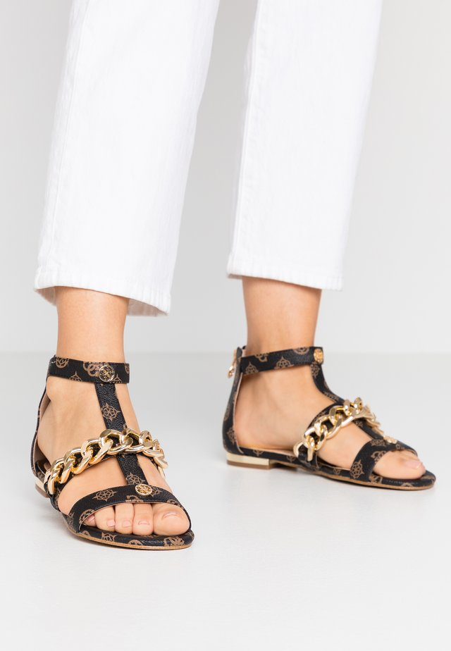 RENATA - Sandals - brown/ocra