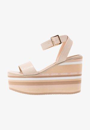 RAMADA - High heeled sandals - stone