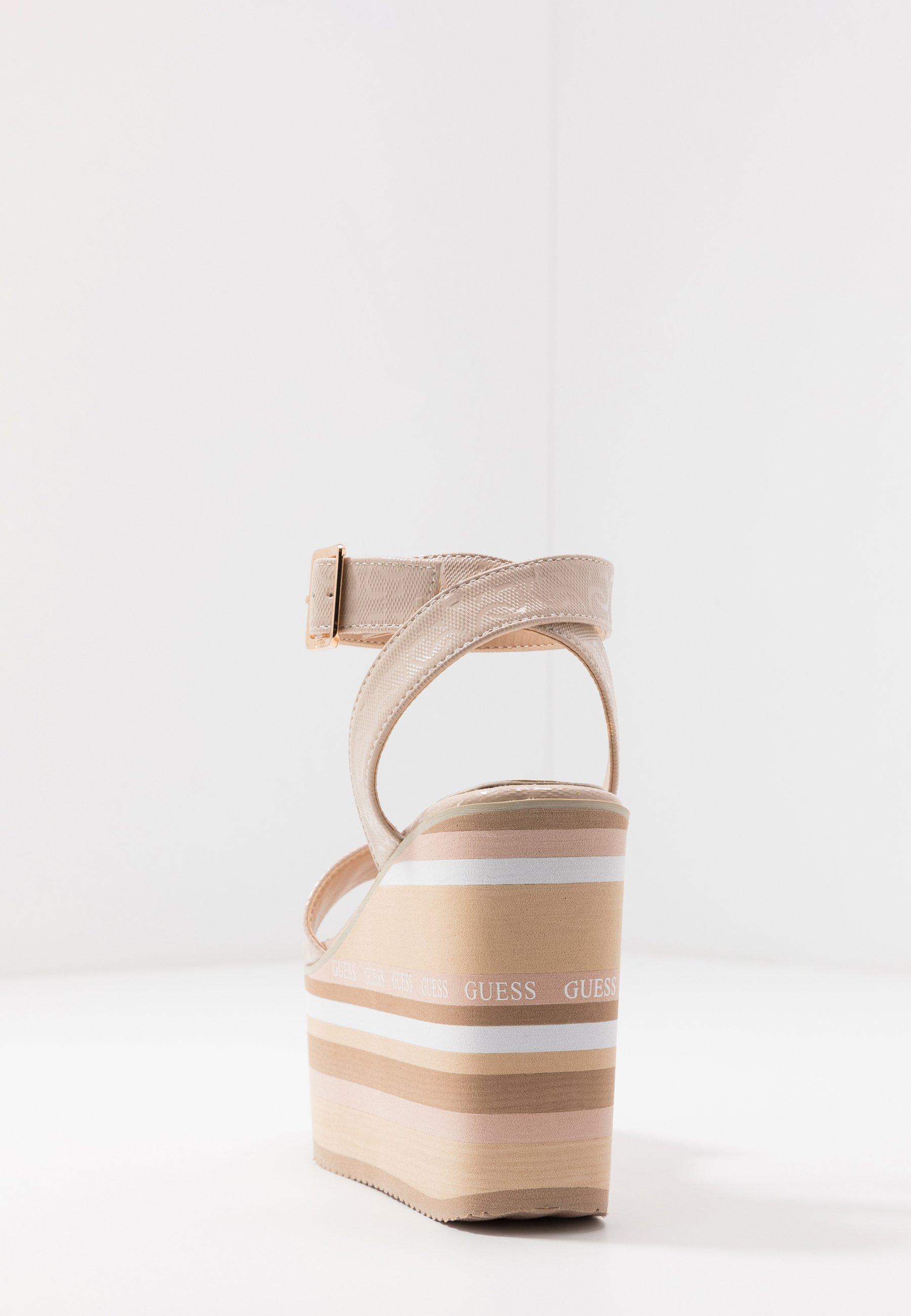Guess Ramada - Sandalen Met Hoge Hak Stone Goedkope Schoenen