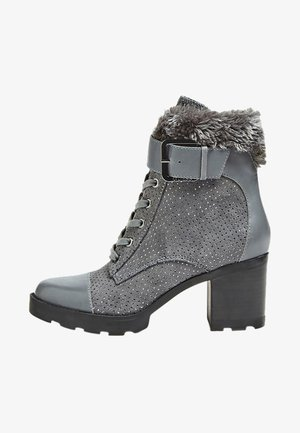 MEGGAN - Bottines à lacets - dark grey