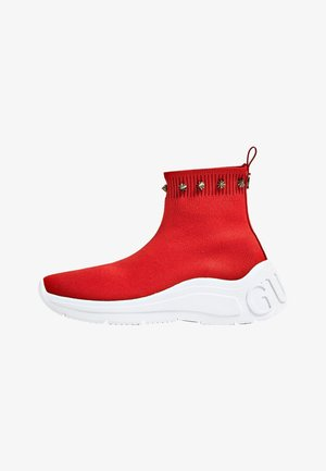 MIT NIETENAPPLIKATION - Ankle Boot - red