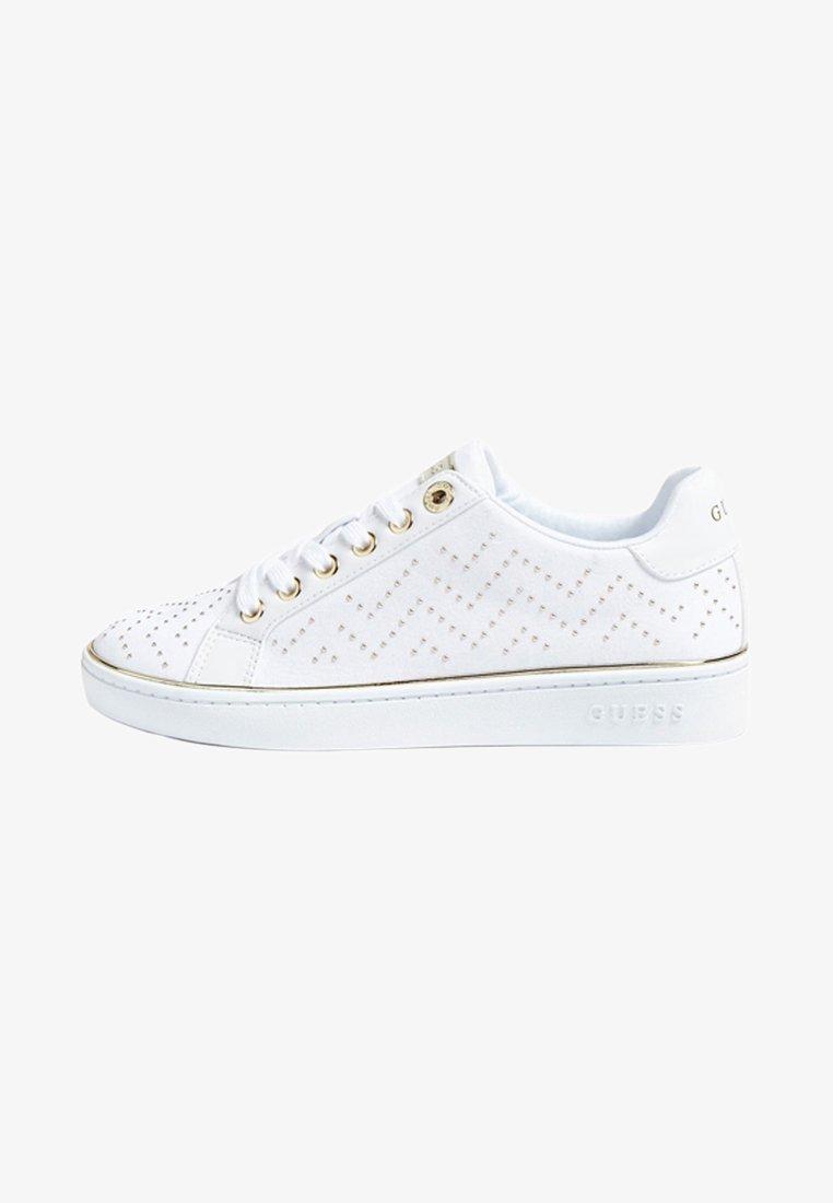 Guess - BIKRAM MIKRO-NIETEN - Sneakers laag - white