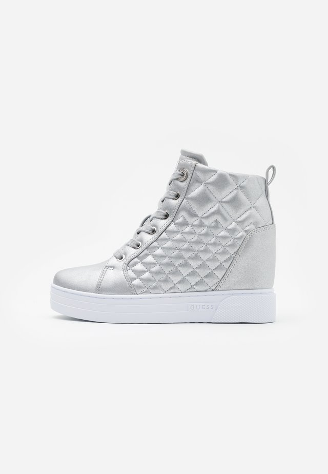 FASE - Höga sneakers - argent