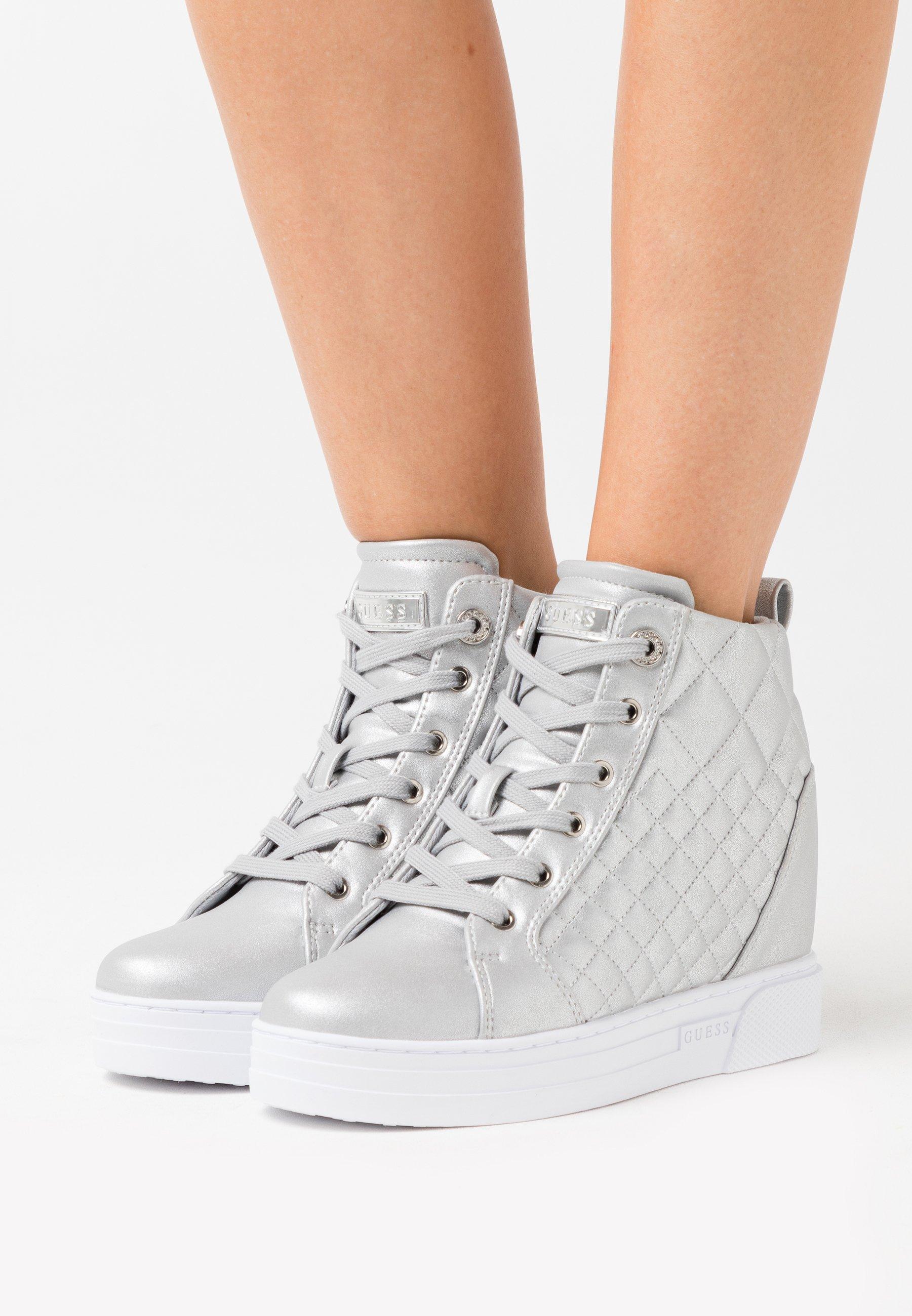 Gutes Angebot Guess FASE - Sneaker high - argent | Damenbekleidung 2020